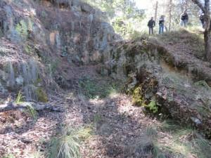 -    lugar de la exhumación