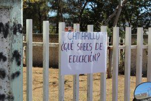 Protesta Sección XXII contra imposición de Camarillo Ramírez, lo desconocen
