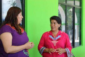Presidenta Juanita Cruz, atiende planteamientos ciudadanos en la Agencia la Junta