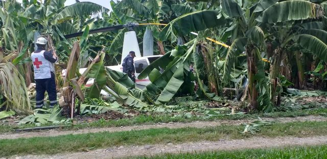 Se desploma helicóptero en Tuxtepec