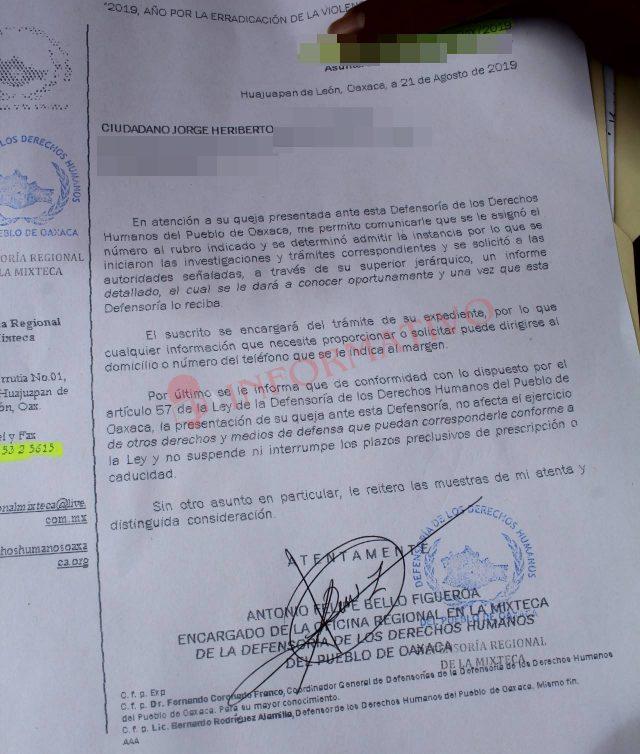 Ciudadano presenta queja en Derechos Humanos por abuso de autoridad de policías