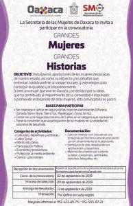 Convocatoria para reconocer a Grandes Mujeres | Estado