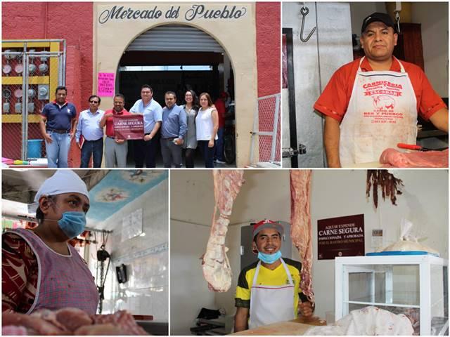 """Reciben certificación de """"Carne Segura"""" carnicerías del mercado Cuauhtémoc"""