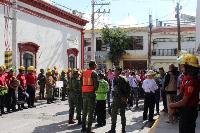 Ayuntamiento participó en macro simulacro 2019