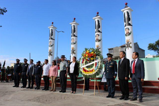 A 172 años de la gesta heroica de Chapultepec, rinden honores a los Niños Héroes en Huajuapan