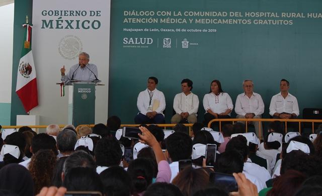 Paciencia para lograr transformación, pide AMLO en la Mixteca
