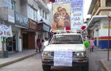 Marchan en Huajuapan por la vida y la familia