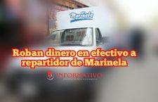 Roban dinero en efectivo a repartidor de Marinela