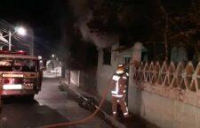 Se incendia casa abandonada en Huajuapan