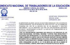 En vilo, la cabeza de vocero de S-22 por dividir a magisterio y activismo electoral por senador de Morena que anhela Gobernar Oaxaca