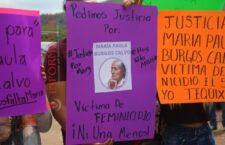 Llevan exigencia de justicia a Huajuapan por feminicidio de María Paula